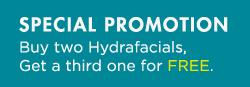 Summer Special: Get 2 Hydrafacials, get a 3rd one for free.